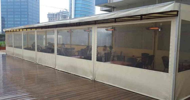 şeffaf balkon çadırı