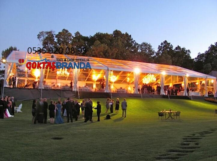 şeffaf kış bahçesi düğün tören etkinlik branda çadır